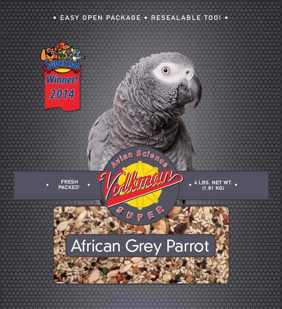 Volkman Avian Science Super African Grey Parrots Bird Food for 4 Lb