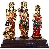 Sunny Corps Ram Darbar Hanuman Sita Laxman Gift Statue Idol Showpiece Sculpture Murti Lxhxw(Cm) = 14X14X7