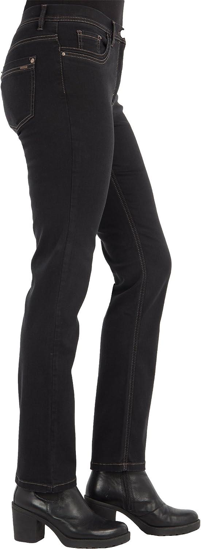 Zerres Women's Jeans Gina Straight Fit Tencel Denim Black