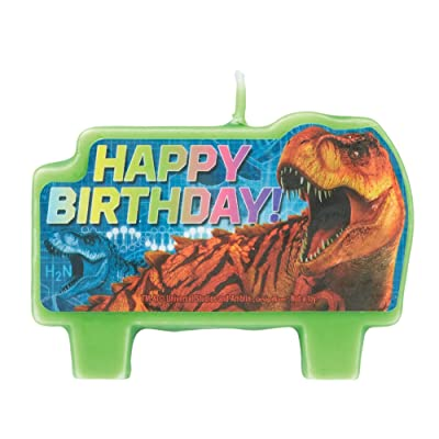 amscan Jurassic World Birthday Cake Candle Set, 4 Pc.: Toys & Games
