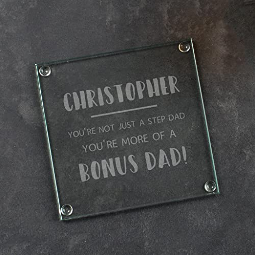 Personalised Glass Coaster Stepdad Gifts From Stepson And