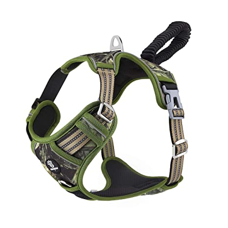 VavoPaw Cinturón Ajustable de Perro, Chaleco Acolchado Refuerzo ...