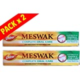 Dabur Meswak -Dentifrice Ayurvedique Meswak - Lot de 2 Tubes de 200g