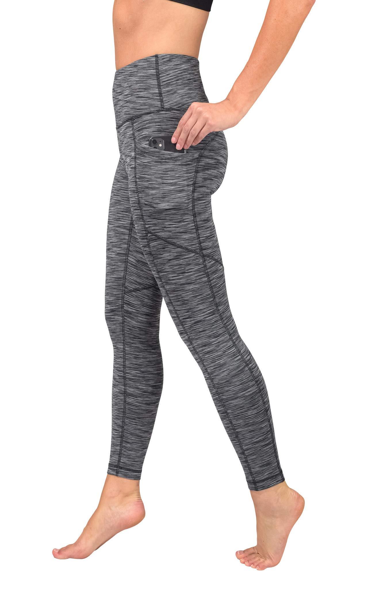 GEVJON High Waist Yoga Pants 2 Pockets Tummy Control Leggings Workout Tights
