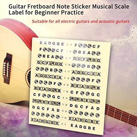 Guitarra Diapasón Diapasón Nota, diseño musical, escala etiqueta ...