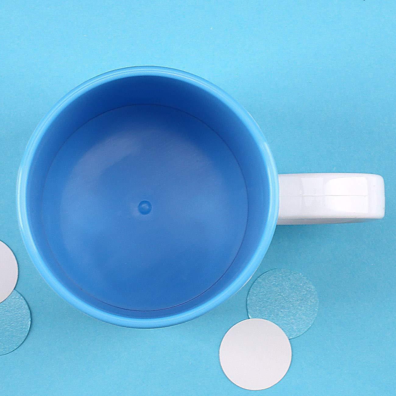 Striefchen/® Bruchfeste Kindertasse mit Namen aus Kunststoff in Blau mit Motivauswahl Pirat
