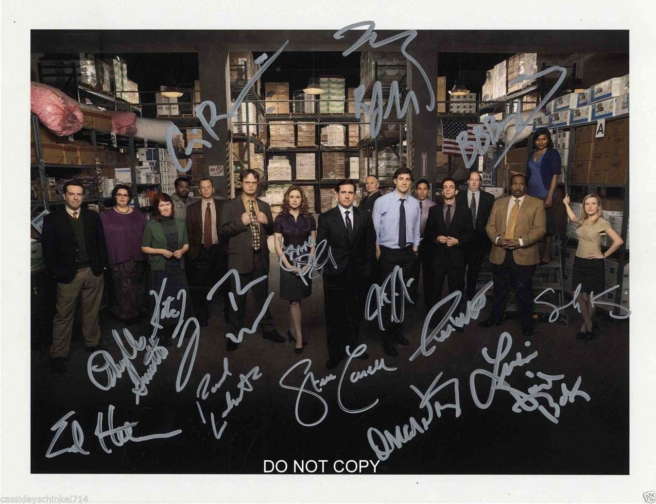 The Office tv show cast reprint signed autographed photo RP Steve Carrell