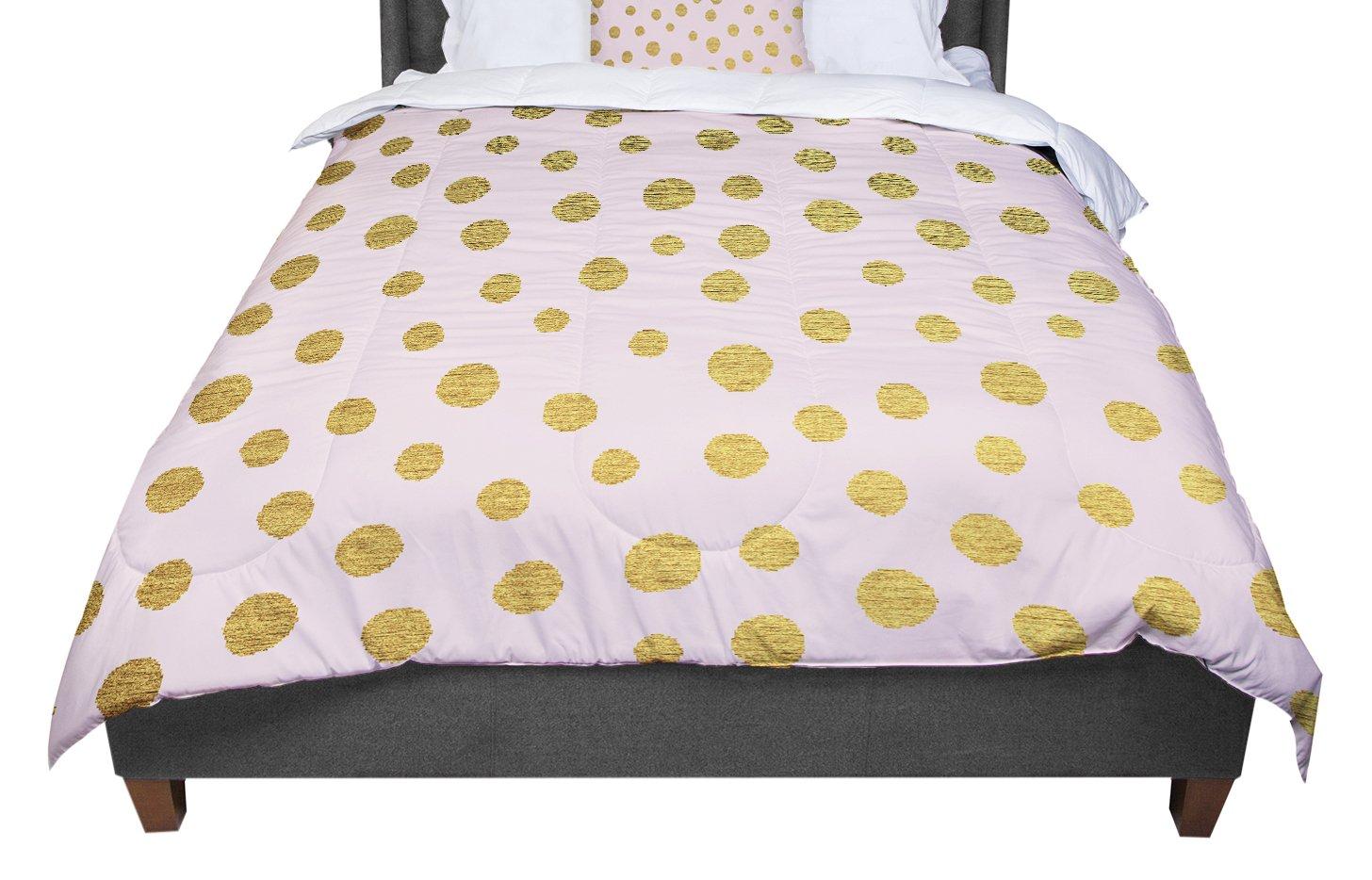 68 X 88 KESS InHouse Nika Martinez Golden Dots /& Pink Blush Twin Comforter