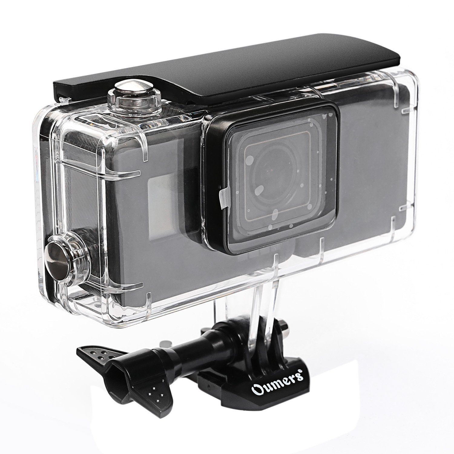 Oumers Housing Diving Case for GoPro Hero(2018) Hero5 Black GoPro Hero6 with Extended Battery 2300mah & Bracket. Replacement Waterproof Diving Cover/Protective Case 45M Underwater Photography Shooting