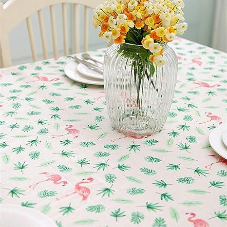 James tyle26 Flamingo Diseño Algodón Mantel Mesa paño Techo Cocina Jardín Salón Antimanchas Cuidado fácil Resistente