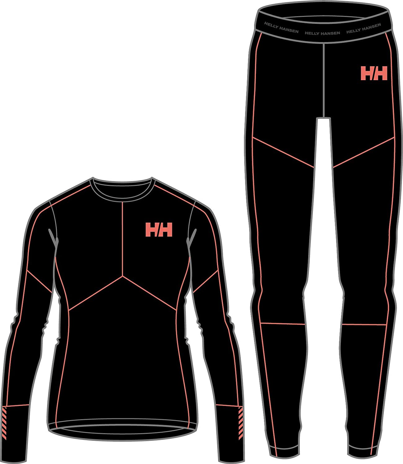 Helly Hansen W HH LIFA Active Set Chándal, Mujer, Negro, Large ...