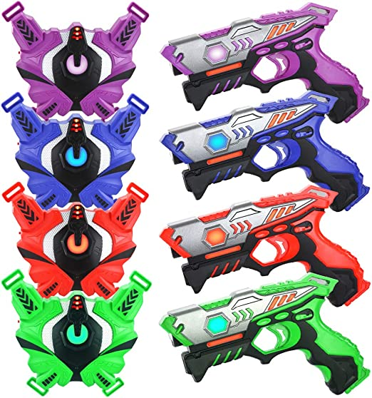 TINOTEEN Laser Tag Vests and Guns - The Best for Young Children