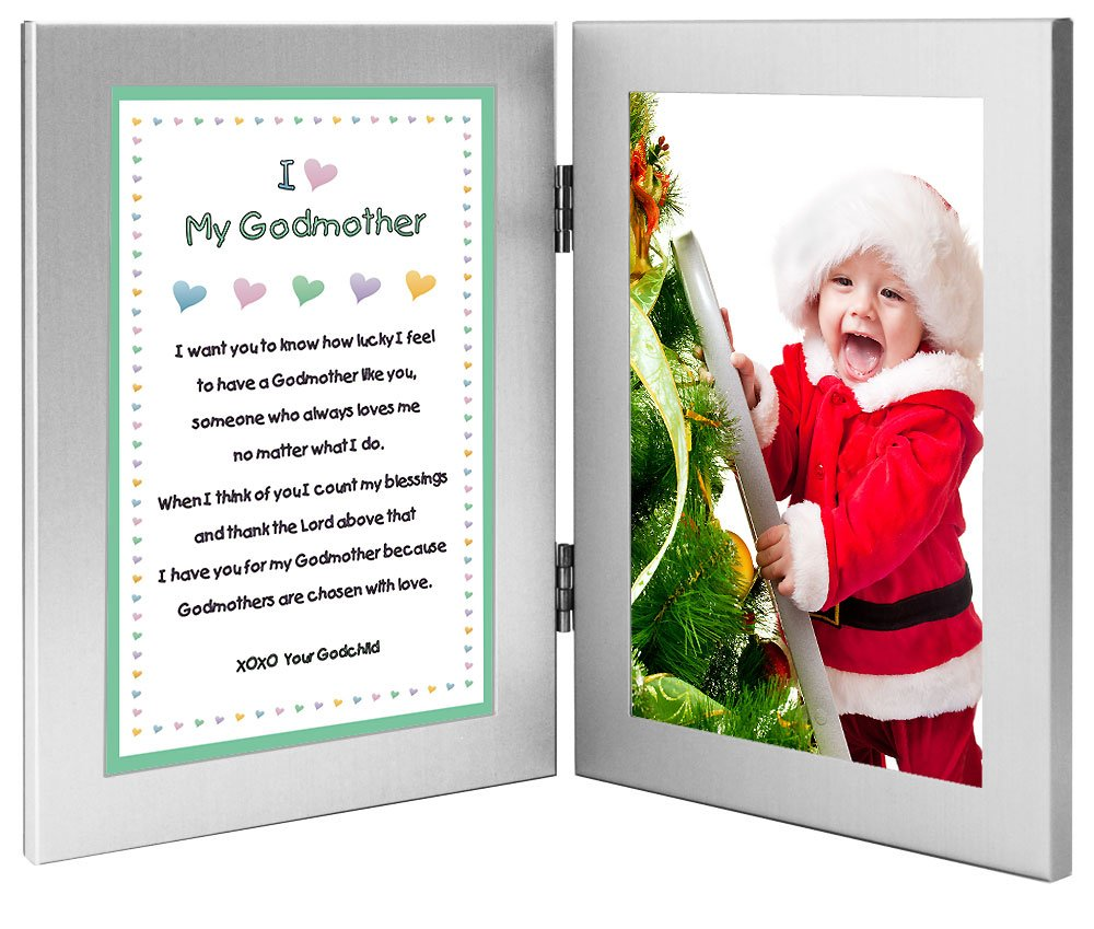 Add Photo Baptism or Christmas Poetry Gifts Godparents Gift from Goddaughter