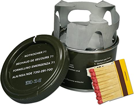 A.Blöchl Cocina de Emergencia Suiza M71 Que Incluye Accesorio de Quemador (Oliv)
