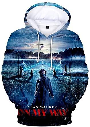 commander en ligne couleur rapide artisanat exquis EmilyLe Men's Alan Walker Mask Sweatshirt 3D Print Long ...
