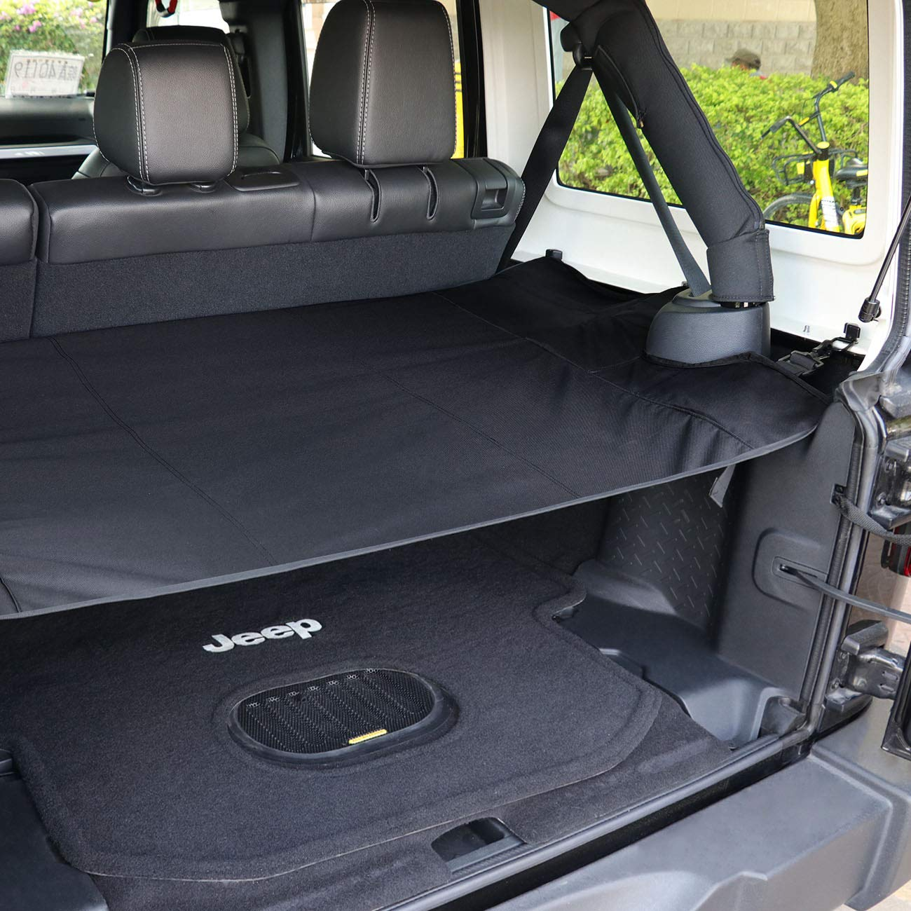 4-Door Opall . Interior Rear Cargo Rack Cover Shield for 2007-2018 Jeep Wrangler JKU