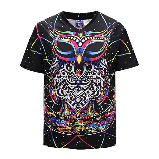 52383cea0b40 Amazon.com  Tanhangguan Mens T Shirts Men 3D Print Casual Short Sleeve T- Shirt Summer Graphic Tshirt Cool Funny T Shirts Tee Shirt  Clothing