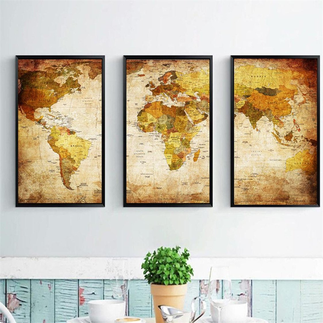 Amazon.com: 3 Pcs/Set 4080 inch Unframed Modern Home Wall Room ...