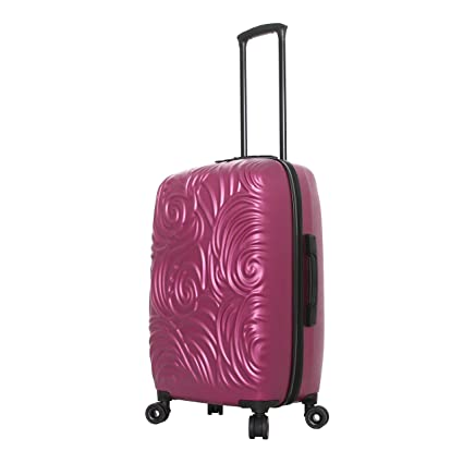 Mia Toro Italy Swirl Hard Side 24 Inch Spinner, Rose
