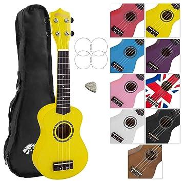 Tiger UKE7-YL - Ukelele soprano para principiantes, con funda, color amarillo: Amazon.es: Instrumentos musicales