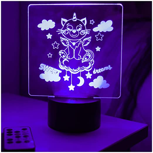 Unicorn Night Lamp Girl/'s Bedroom Decoration Unicorn Nightlight Small Desk Lamp
