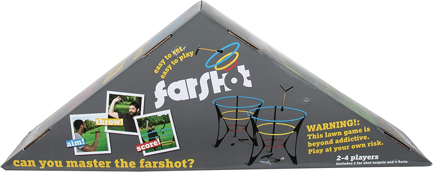The FarShot - Outdoor Lawn Darts Game - Easy Rules/Setup! Portable, Lightweight Design! Perfect for Kids, Teens and Adults! Great for Beach, Camping, Tailgate, BBQ, Backyard, Wedding, Parties, & More!
