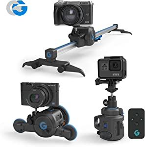 GripGear Movie Maker, The Directors Set - Electronic Camera Slider & Micro Dolly & 360° Panoramic Time Lapse System.