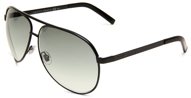 14fc43b5c057 Amazon.com: Gucci 1827/S 0BNB Aviator Sunglasses,Black Frame/Grey Gradient  Lens,One Size: Shoes