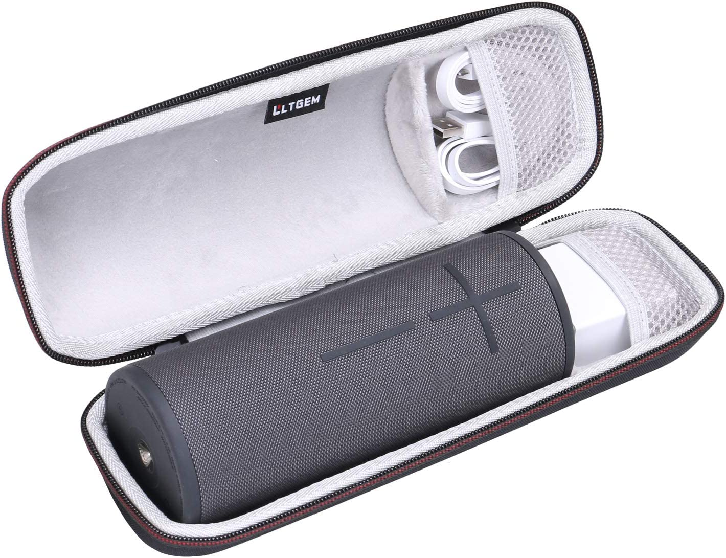 LTGEM Case for UE Ultimate Ears Boom 3 or DKnight Big MagicBox Portable Bluetooth Wireless Speaker.Fits USB Cable and Charger