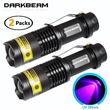 darkbeam 395 SK68 UV portátil negra Linternas ultravioleta 395 nm LED Blacklight detector para perro orina