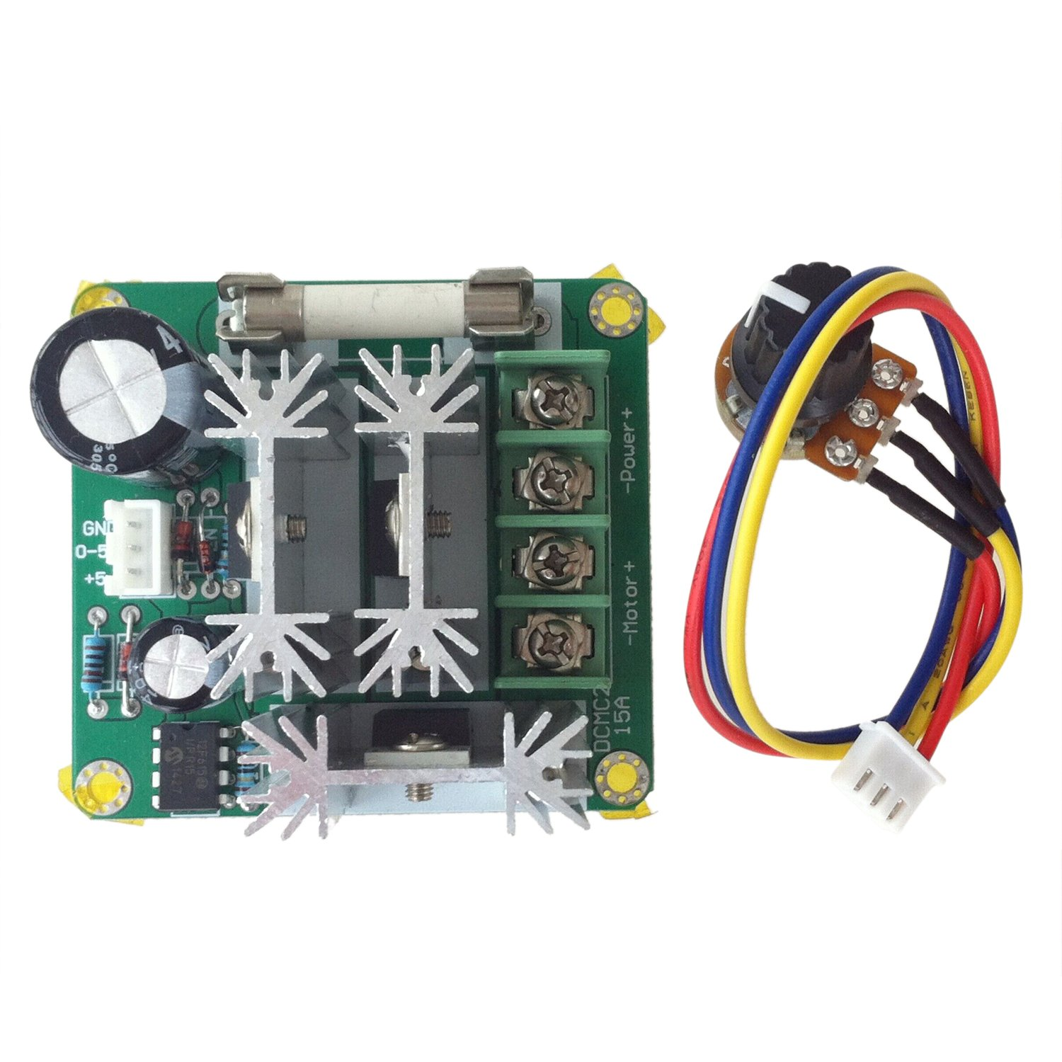 SODIAL(R) DC6V-90V 15A Pulse Width PWM DC Motor Speed Controller Switch 021114