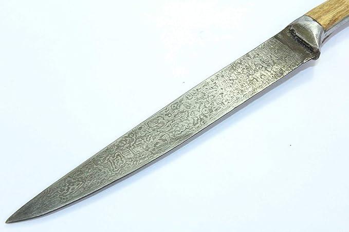 Amazon.com: PH Artistic Dagger Cuchillo Damasco hoja de ...