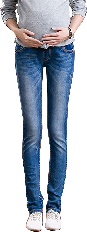 Gaorui Pregnant Women Jeans Maternity Trousers Pants Denim Slim Legging Belly Cover