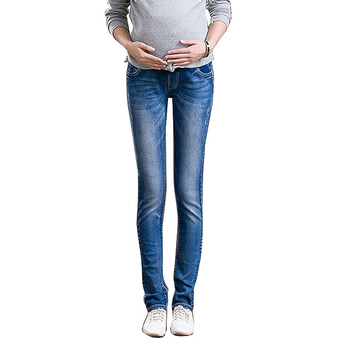 Amazon.com: Las mujeres embarazadas Jeans Maternidad ...