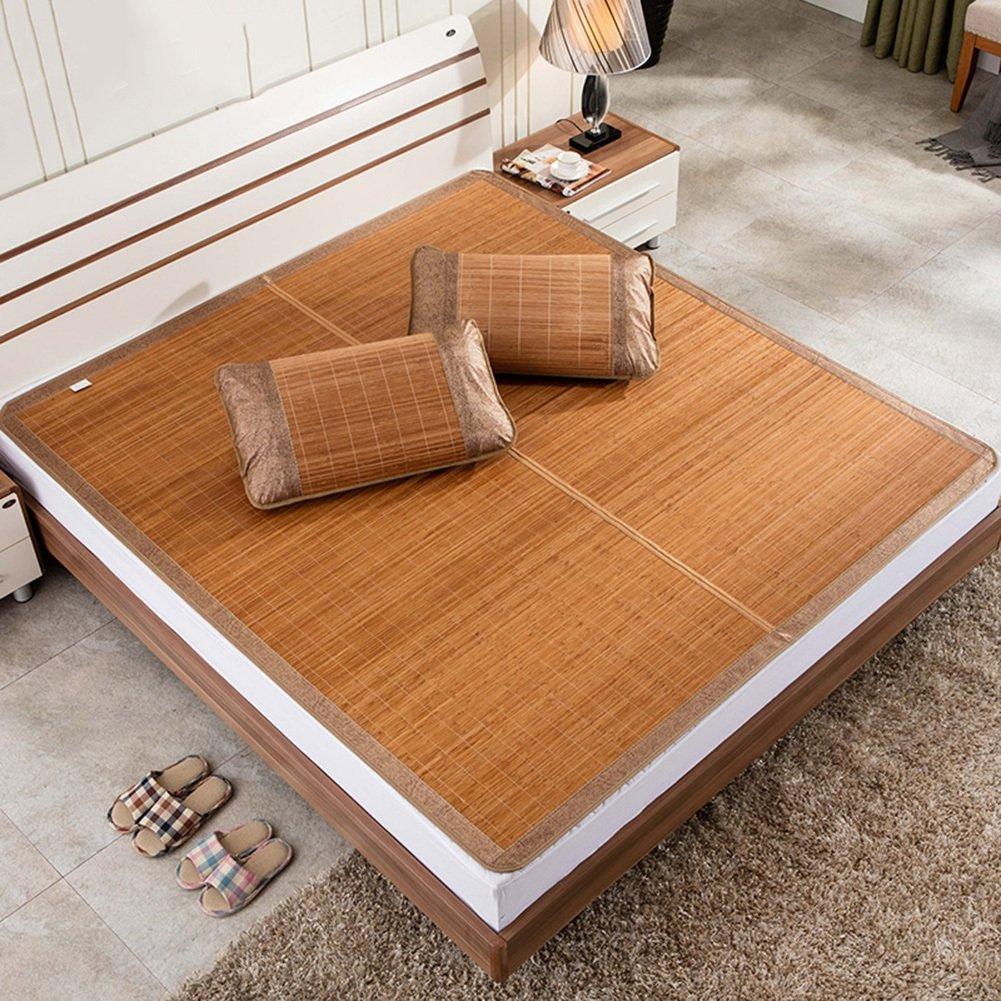 WENZHE Bambus Matratzen Sommer-Schlafmatten Strohmatte Teppiche Falten Zuhause Schlafzimmer Multifunktion Ohne Kissenbezüge, 8 Größen