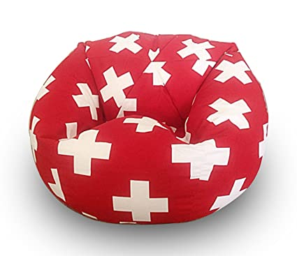 Strange Plus Pattern Digitally Printed Canvas Bean Bag With Beans Filled Xxxl Offer By Aart Machost Co Dining Chair Design Ideas Machostcouk