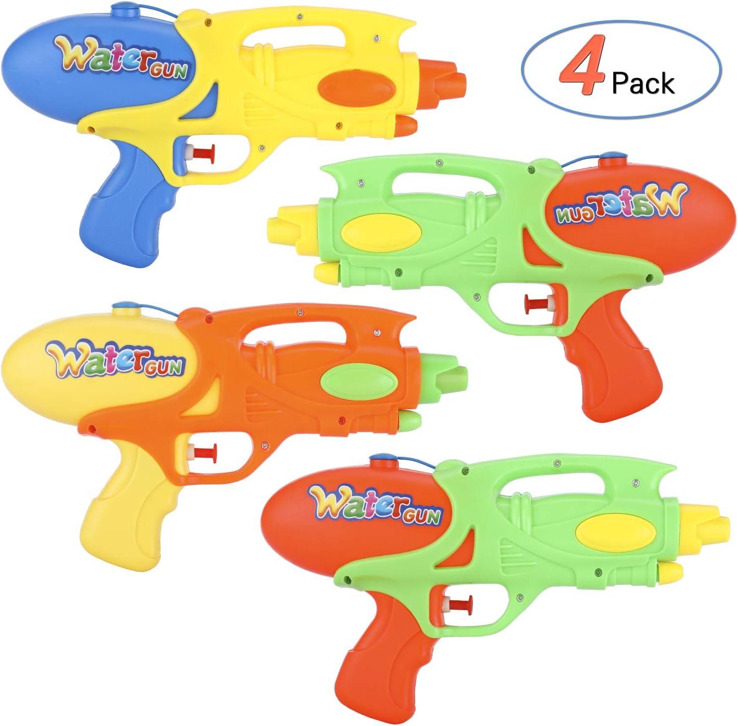 Ucradle Pistola de Agua para Niños, Paquete de 4 Pistola de Agua ...