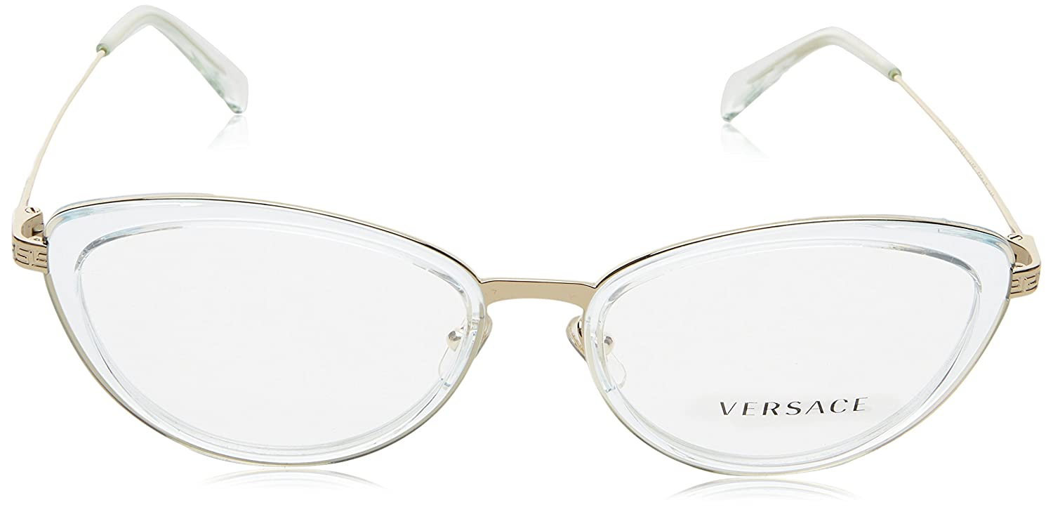 8bdfb88db743 Versace Glasses Frames 1244 1405 Light Blue Transparent and Pale Gold 53mm  Womens  Amazon.ca  Luggage   Bags