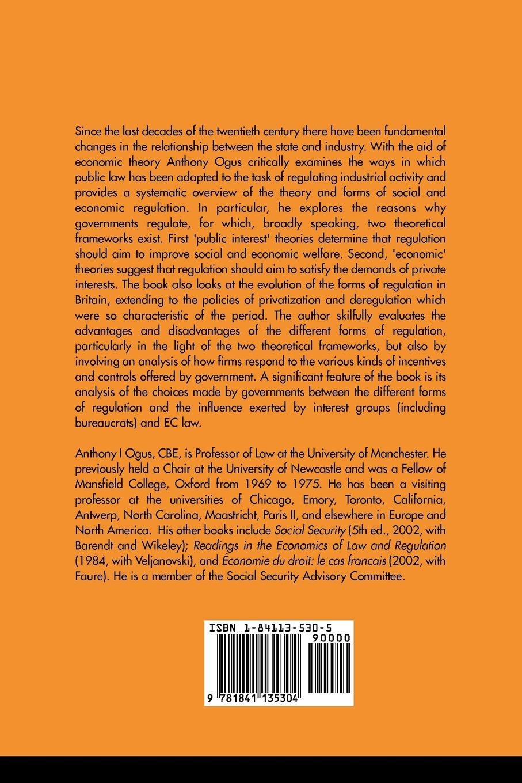 Regulation: Legal Form and Economic Theory: Anthony I. Ogus: 9781841135304:  Amazon.com: Books