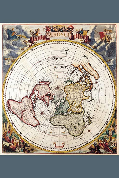 Flat Earth 1700 Antique Vintage Map Cool Wall Decor Art Print Poster 12x18  inch
