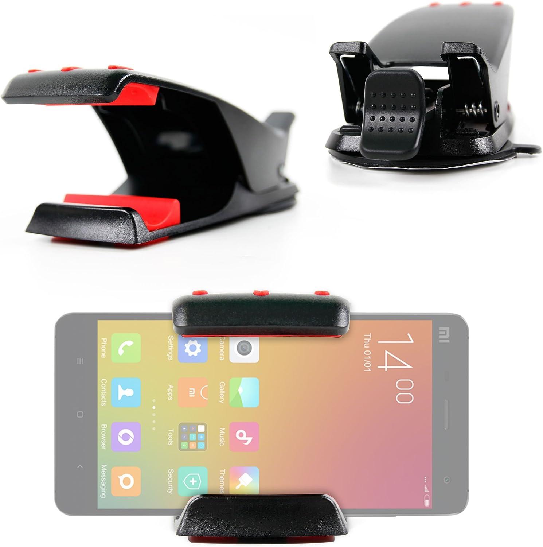 DURAGADGET Soporte para Xiaomi MI4 | MI Note (Pro) | MI 4i | Mi 2a + ¡Gamuza! - con Potente Adhesivo