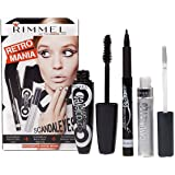 Rimmel Retro Mania Scandeyes Pen Eyeliner Glam Mascara & Eye Shadow Paint Set