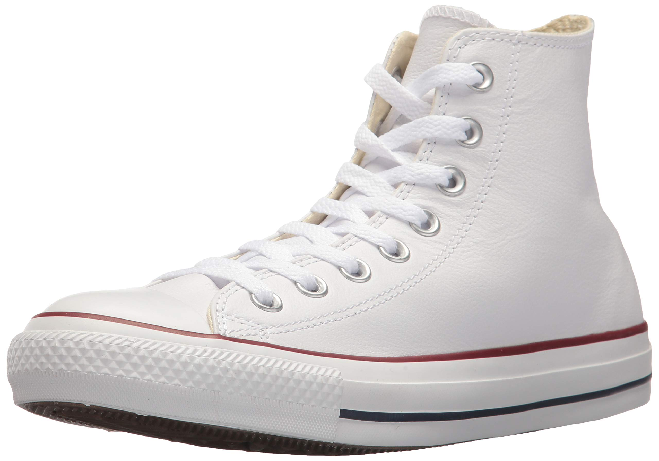 Converse Chuck Taylor All Star Leather High Top Sneaker,  white, 13 Women/11 Men by Converse