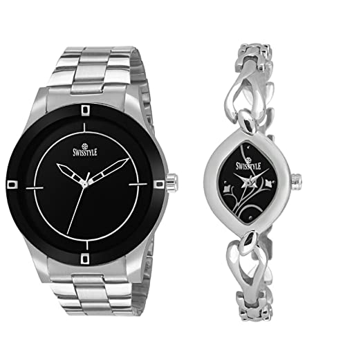 65abad33930 Image Unavailable. Image not available for. Colour  Swisstyle Analog Black  Dial Men s and Women s Combo Watch- ...
