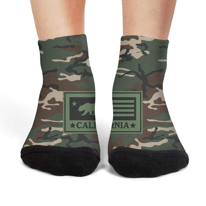 Women's army camo skull compression funny socks art bike crew socks