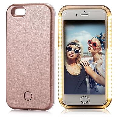 buy online 611c4 30438 iPhone 6S Plus Case, ELFTEAR LED Light Up Luminous Selfie Cell Phone ...