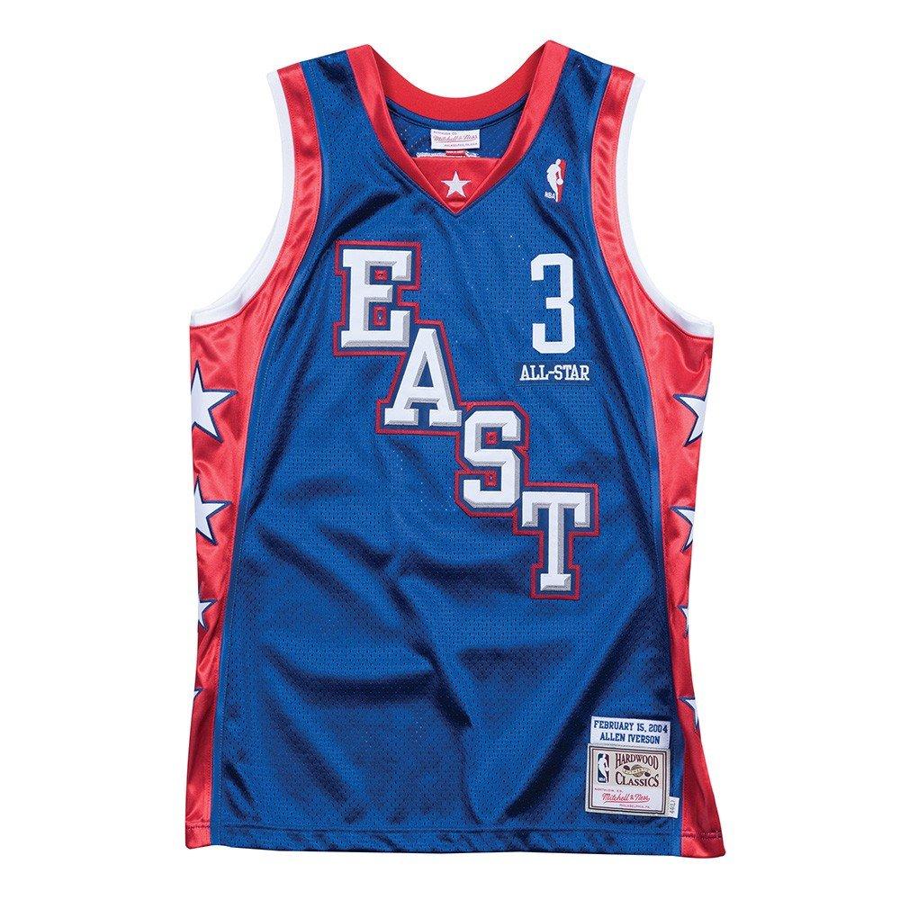 アレンアイバーソンAll Star East NBA Mitchell & Nessブルー2004レトロAuthentic Jerseyメンズの  XX-Large