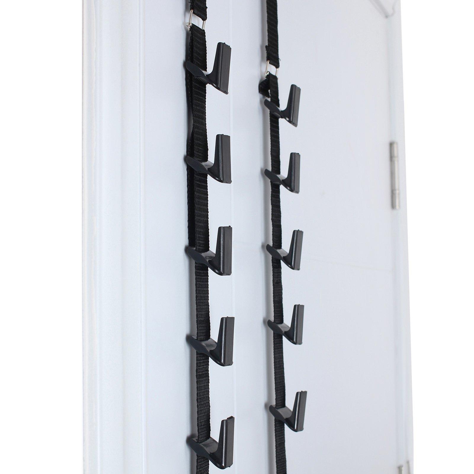 LiNKFOR 2 Pcs Baseball Cap Hat Rack Holder Organizer Storage Door Closet Hanger Adjustable