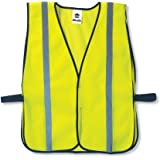Ergodyne GloWear 8020HL Non-Certified Reflective High Visibility Vest, One Size, Lime