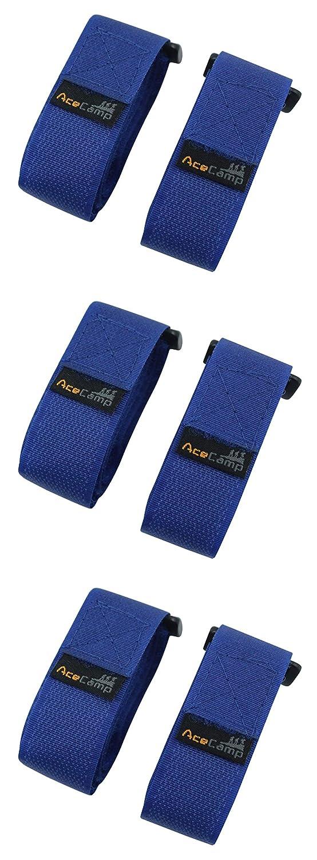 3er Pack Schwarz oder Blau Sport Befestigungsriemen AceCamp 3X Klettgurt Packriemen 2.5 x 90 cm Klettband Klettverschluss Allzweckgurt: Gr/ö/ße : 90 cm Fahrrad
